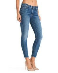 7 For All Mankind - Blue Ankle Skinny - Lyst