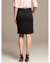 Banana Republic - Black Tonal Texture Pencil Skirt - Lyst