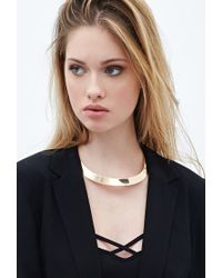 Forever 21 - Metallic Linear Snake Chain Necklace - Lyst