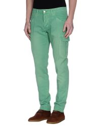 Entre Amis | Green Casual Trouser for Men | Lyst