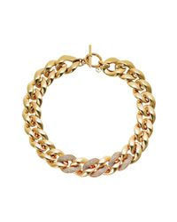 Michael Kors | Metallic Pave Curb Chain Link Necklace | Lyst