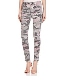 True Religion - Green Halle Skinny Jeans In Distressed Camo - Lyst
