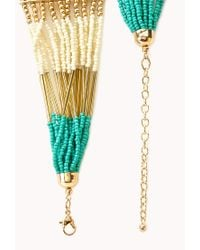 Forever 21 | Blue Eclectic Beaded Necklace | Lyst