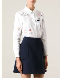 Carven - White Embroidered Shirt - Lyst