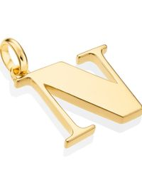 Monica Vinader | Metallic Gold-plated Alphabet Pendant N | Lyst