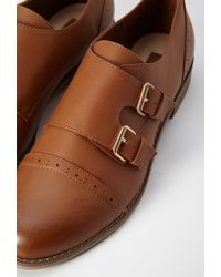 Forever 21 | Brown Faux Leather Buckled Oxfords | Lyst