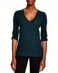 Aqua | Black Cashmere Cashmere V-neck Sweater | Lyst