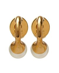 Chloé - Metallic Gold Darcey Round Pearl Earrings - Lyst