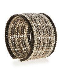 Nakamol - Multicolor Multi-row Beaded Wire Cuff Bracelet - Lyst