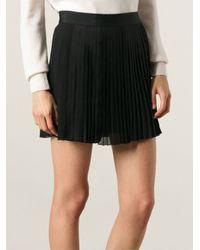 Vanessa Bruno Athé - Black Pleated Skirt - Lyst