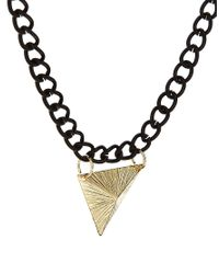 ASOS - Metallic Necklace With Mixed Metal for Men - Lyst