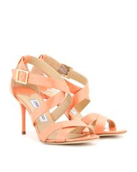 Jimmy Choo - Brown Louise Patent leather Sandals - Lyst