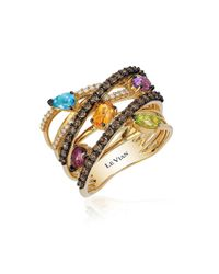 Le Vian | Multicolor Candy Colors Amethyst, Raspberry Rhodolite, Cinnamon Citrine, Green Apple Peridot, Swiss Blue Topaz Ring | Lyst