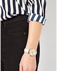 Nixon | Kensington White Patent Leather Watch | Lyst