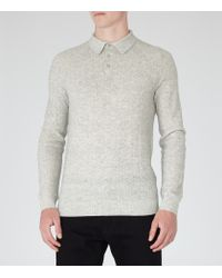 Reiss | Gray Wish Knitted Polo Shirt for Men | Lyst