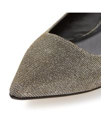 Dune - Metallic Amarie Pointed Toe Dressy Flat Shoes - Lyst