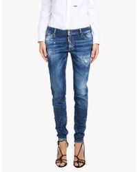 DSquared² | Blue Medium Waist Skinny Jeans | Lyst