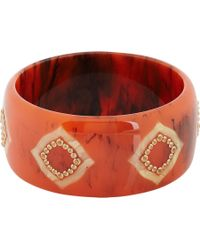 "Mark Davis - Orange Sapphire, Garnet & Bakelite ""Desdemona"" Bangle - Lyst"