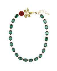 Dolce & Gabbana | Green Crystal-embellished Necklace | Lyst