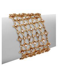 Adriana Orsini - Metallic Delicate Impact Openwork Bracelet - Lyst