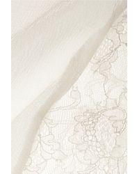 La Perla - White Shape Allure Silk-Blend Chiffon and Lace Robe - Lyst