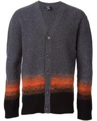 McQ - Gray Ombré Stripe Cardigan for Men - Lyst