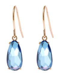 Suzanne Kalan | Gold English Blue Topaz Pear Drop Earrings | Lyst