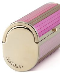 Jimmy Choo | Pink Cosma Disco Bars Cylinder Clutch Bag | Lyst