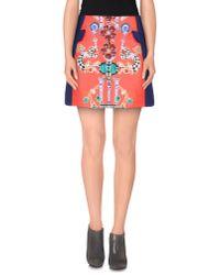 Mary Katrantzou | Blue Mini Skirt | Lyst