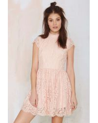 Keepsake | Natural Eclipse Lace Dress | Lyst