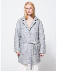 Ganni | Natural Washington St. Wrap Coat | Lyst