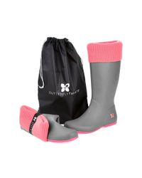Butterfly Twists - Pink Windsor Foldable Rainboots - Lyst