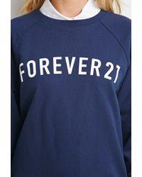 Forever 21 - Blue Graphic Sweatshirt - Lyst