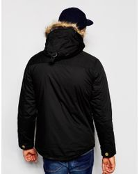Native Youth - Black Arctic Parka Jacket With Curved Hem for Men - Lyst