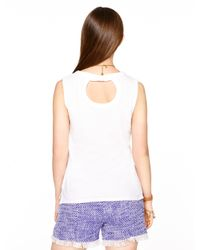 Kate Spade | White Sleeveless Fitted Tee | Lyst