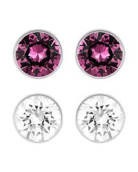 Swarovski - Multicolor Harley Pierced Earrings Set - Lyst