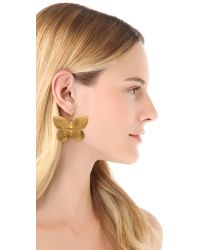 Kenneth Jay Lane - Metallic Butterfly Earrings - Lyst
