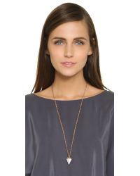 Vita Fede - Metallic Full Pave Thea Necklace - Rose Gold/clear - Lyst