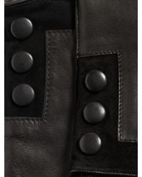 John Varvatos - Black Nappa Sheepskin Snap Glove for Men - Lyst