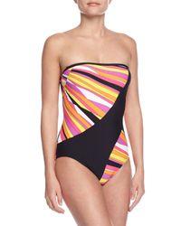 Trina Turk - Multicolor Sunburst Bandeau One-piece Swimsuit - Lyst