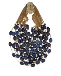 Rosantica - Blue Gold-Plated Sacramento Multi Layer Necklace - Lyst