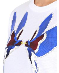 Stella McCartney - White Swallow-Print T-Shirt - Lyst