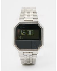 Nixon - Black Re-run Digital Watch A158 - Silver - Lyst