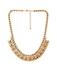 Forever 21 | Metallic Pyramid Studded Collar Necklace | Lyst