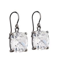 Bottega Veneta | White Zirconia And Oxidised-Silver Earrings | Lyst