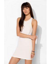 Sparkle & Fade - White Strappy Back Bodycon Mini Dress - Lyst