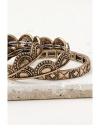 Forever 21 - Metallic Tribal-inspired Bracelet Set - Lyst