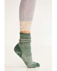 Urban Outfitters | Green Cozy Lined Boot Sock | Lyst