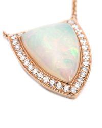 Anita Ko | Metallic Large 18kt Opal And Diamond Pendant Necklace | Lyst