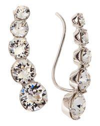 Ca&Lou - Metallic Debutante Lobo Linear Earrings - Lyst